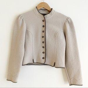 Geiger Tyrol Austria Boiled Wool Sweater Jacket 8